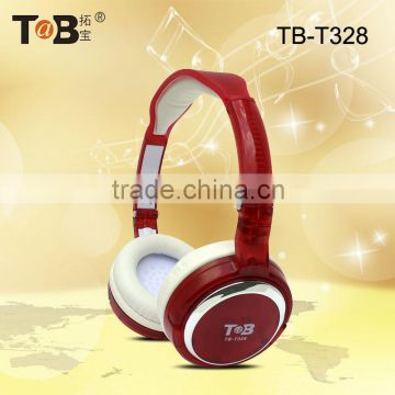 New model transparent crystal coloful hot sale bling headphones pink color stylish headphones