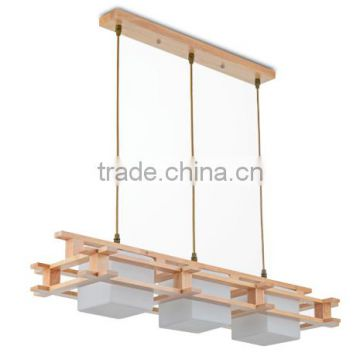 wholesale guzhen lighting Japan glass wooden pendant light billiards lighting