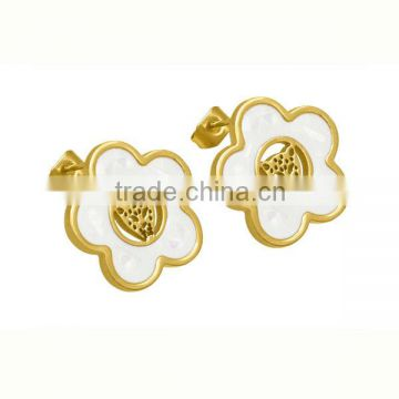 Beautiful S Stainless Steel Gold Earrings Designs For Designer Cute Fancy Design