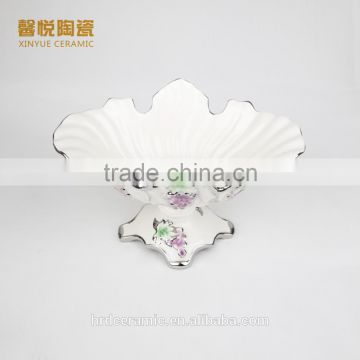 Wholesale ceramic candy tray golden,fruit tray ceramic material