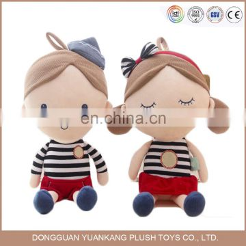 OEM long hair pretty girl plush rag dolls