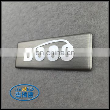 custom metal embossed aluminum nameplate label for appliance