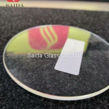China OEM glass manufacturer 4mm heat tempered round shape with flat polished edges for coaster