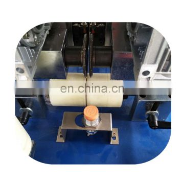Knurling machine with insertion for aluminum windows and doors
