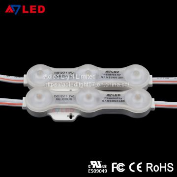 High quality 12v 120lm smd 2835 samsung 3 chip lens outdoor led module