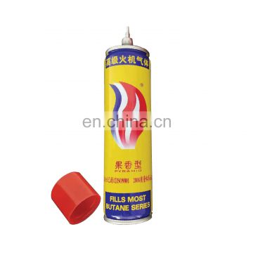 China gas refill for lighter adaptar 270g and korek gas 270g