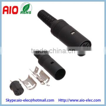 Plastic 180 degree Style 5 Pin DIN Female Solder Connnector to Create a Custom Cable Pinout