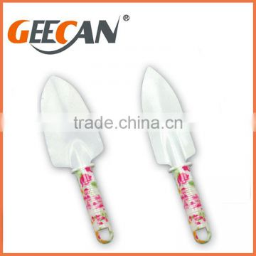 4pcs Combination Garden Tool Set with floral printed shovel,rake
