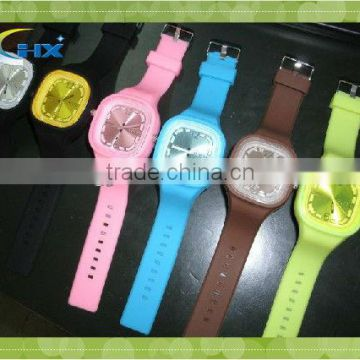 2014 Latest Design Customized Silicon Watch/candy Color Silicon Watch