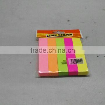 100 sheet 3x3 inch paper fluorescence sticky note pad