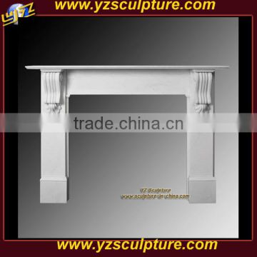 white marble modern fireplace mantel sale