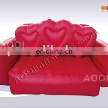 2015 AOQI hottest Heart Sofa advertising inflatable model