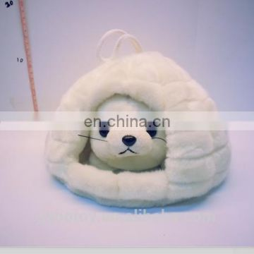 the ice castle seal igloo plush stuff toy frozen doll pet house
