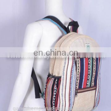Casual Hemp Backpack HBBH 0013a