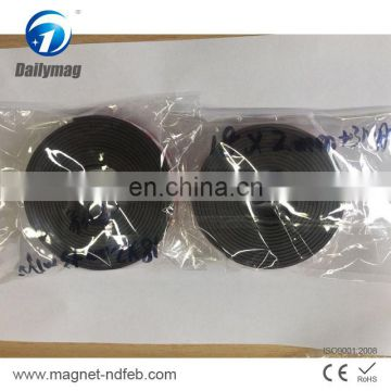 Customized soft rubber magnet flexible magnetic sheet with 3m adhesive