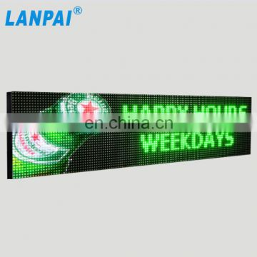 China supplier outdoor 10mm programmable full color logo image graphic open display