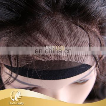 Cambodian hair 360 lace frontal closure with baby hair, frontal with swiss lace 100% human hair