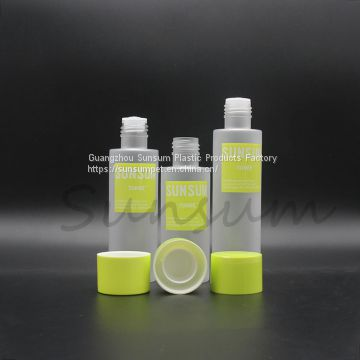 Screw cap plastic matte surfact bottle for toner