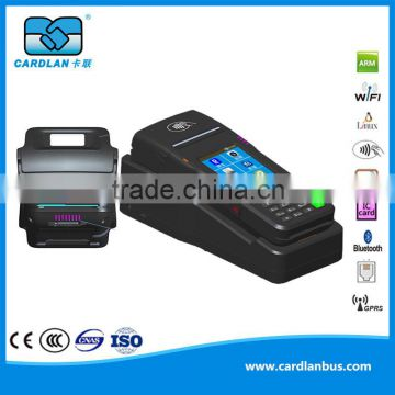 CL-0511B bus ticket vending machine with touch screen, thermal printer, GPRS, GPS, Blueteeth, camera, QR and card supported