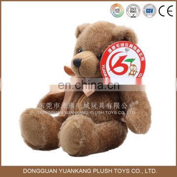 Factory-Direct Premium 25cm brown with bow teddy bear plush stuffed animal