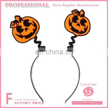 2017 China Good Quality New Design Promotional PVC And Plastic Halloween Party Pumpkin Headband