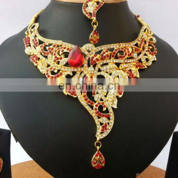 INDIAN DESIGNER BOLLYWOOD JEWELRY NECKLACE EARRINGS SET