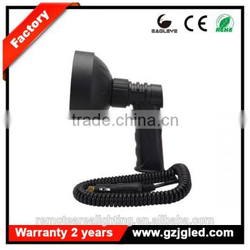 Powerful 27w led handheld spotlight hunting rechargeable led super bright outdoor lighting