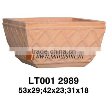 Vietnam Classic Simple Pattern White Wash Terracotta Planter