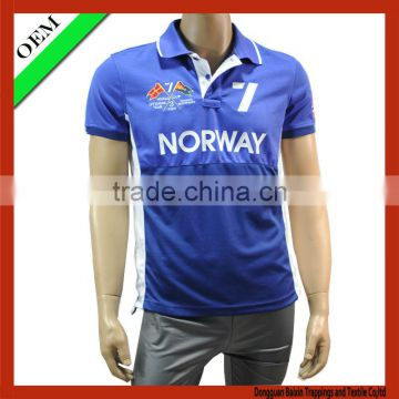 High quality Men 100% polyester polo sport t-shirt / t shirt