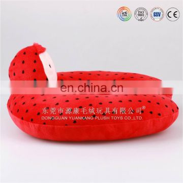 new design lovely fruit shaped funny neck pillow for promotion