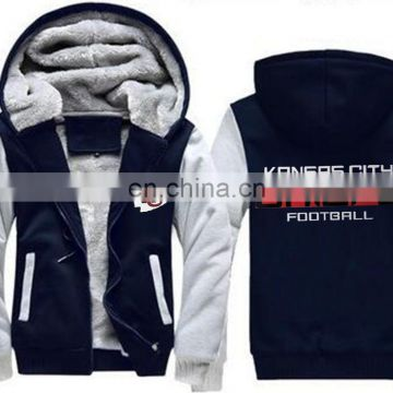 Hot sale! American football jersey Zipper Hoodie sports Jacket