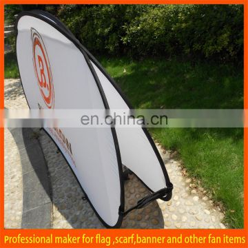 Custom a frame fabric pop out banner