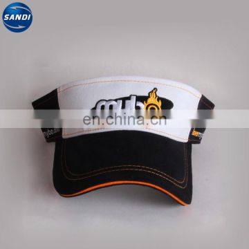 Custom sports adjustable sun visor cap