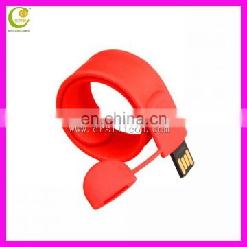 Red High Quality Colorful Custom USB Silicone Wristbands