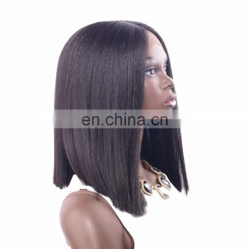 Fashion yaki straight synthetic hair lace front synthetic wig for black women