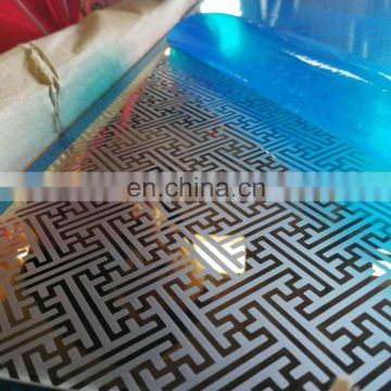 China supplier embossed printed stainless steel sheet