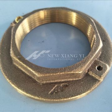 CNC well processed bronze flanged nuts marine hardware