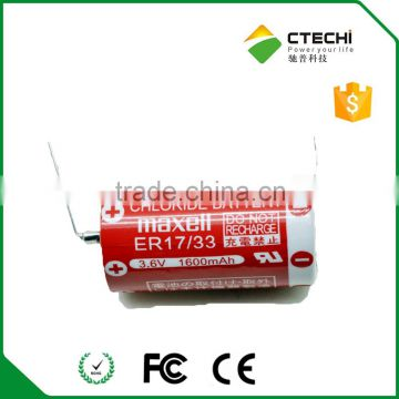 non-rechargeable lithium ion battery,MAXELL ER17/33 3.6V
