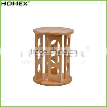 High Quality Round Kitchen 12 pcs Glass Spice Jars Bamboo Wooden Spice Rack/Homex_Factory