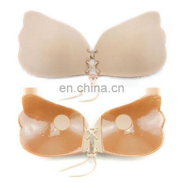 Sexy Deep V-shaped Gel Invisible Backless Bra Self Adhesive Strapless Bandage Silicone Breast Lift Push Up fly Bras
