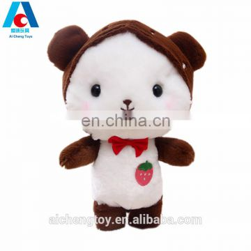 dongguan factory custom logo strawberry cat plush doll girlfriend gifts