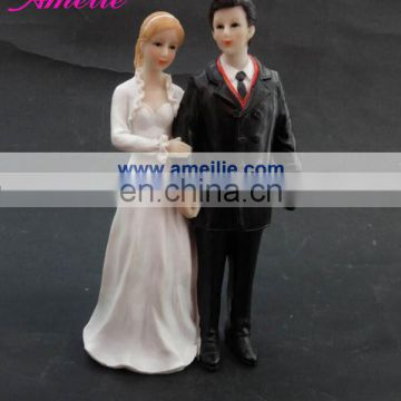 A07400 Black&White European Cake Topper For Wedding