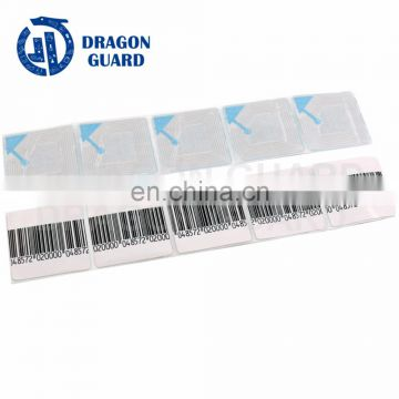DRAGON GUARD quality products RF eas soft label anti theft labels with 3x3cm/4x4cm/5x5cm