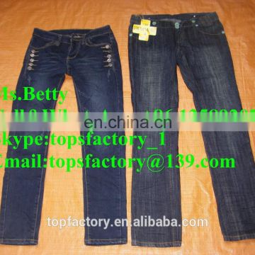 High quality cheap china ladies jeans supplier