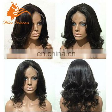 New Style Lace Front Wig Brazilian Human Hair Loose Body Wave Natural Wavy Human Hair Topper Wig