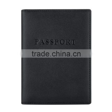 Leather passport holder purse rfid travel wallet wholesale