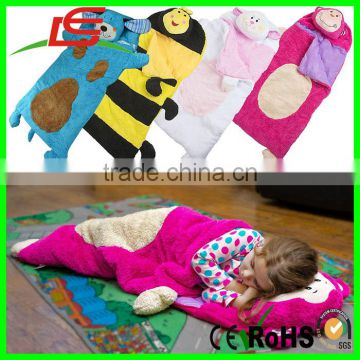 95baa155f Cuddly Soft Warm Kids Plush Animal Sleeping Bag For Camping Boys ...