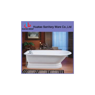 classic bathtub with pedestal