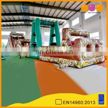 AOQI pvc commercial inflatable obstacle course adult/giant inflatable obstacle course