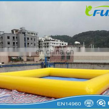 Hight quality yellow inflatable pool for bumper boat